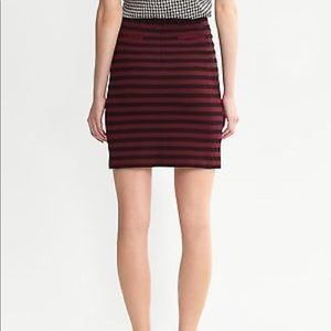 Banana Republic Red Striped Ponte knit skirt